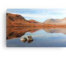 Blackmount reflection Canvas Print