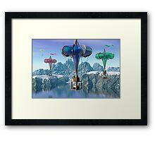 The great balloon race.  Framed Print