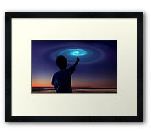 Spiral Light, UFO Framed Print