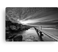 Behind the Harbour Walls Canvas Print
