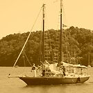 Old sailing boat at Foleux Brittany by Alan Gillam