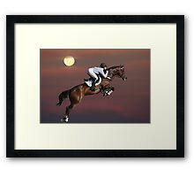 Jump for the Moon Framed Print