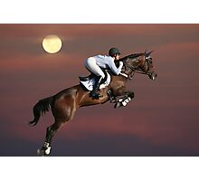 Jump for the Moon Photographic Print