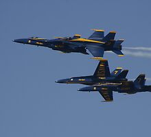 the Blue Angels in a Split by fototaker