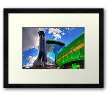 John Deere Tractor Framed Print