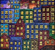 City Lights By Night by Monica Engeler