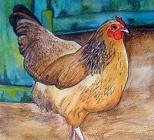Chook at the Barn Door by Alexandra Felgate