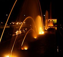 Fountain at the KRS in Mysore- India by maheshbl