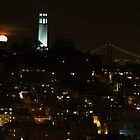 Telegraph Hill ~ Full Moon Rising by fototaker