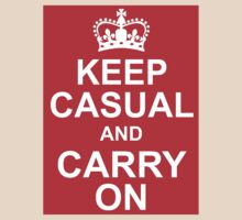 A Casual Classic iconic Keep Calm inspired t-shirt design by Casual Classics