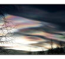 """Mother Of Pearl Clouds 1"" by Maj-Britt Simble"
