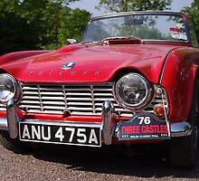 1963 Red Triumph TR4 by Mark Wilson