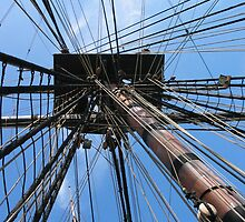 Old ship Rigging - San Diego Harbor CA by Stephen Homer