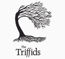 Triffids tree and logo in black - tree by Martyn P Casey by W. Minc  Productions