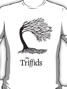 Triffids tree and logo in black - tree by Martyn P Casey T-Shirt