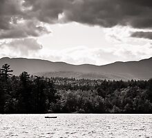 Spring in NH Landscape BW by Edward Myers