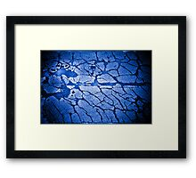 The Deep - Under the ice... searchlights. Framed Print