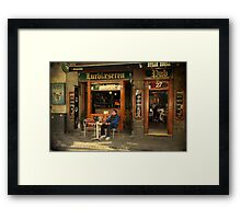 Street life - Drinking alone is not much fun Framed Print