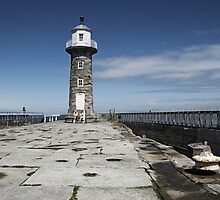 End of Whitby pier by StephenRB