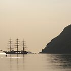 Tall ship at anchor by siobhain67