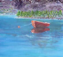 Norwegian Red Fishing Boat by Kay Cunningham