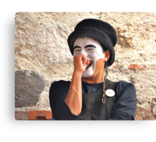 Laughing Mime Canvas Print