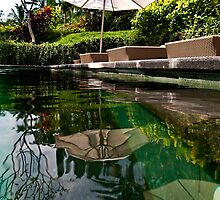 Bali Poolside Reflection by JohnKarmouche