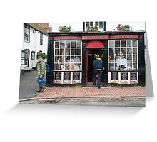Post Office: Alfriston Village, East Sussex, England, UK. Greeting Card