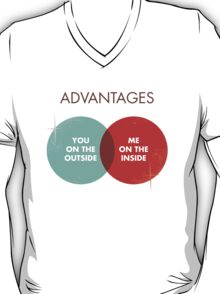 Advantages to both - Disco Ball Variant T-Shirt