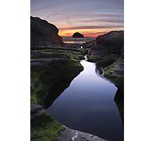 Tebarwith Strand at Sunset Photographic Print