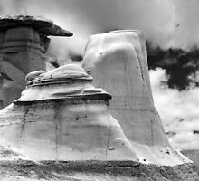 Hoodo Towers, Drumheller, AB by Michael Phillips