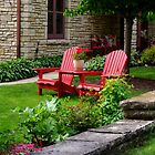 Inviting Wooden Chairs in Nice Yard by James Formo