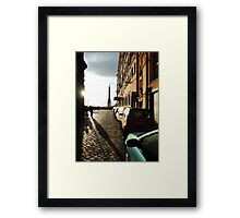 Breakthrough - Roman Alleyway to the Spanish Steps Framed Print
