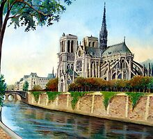 Notre Dame Cathedral by C David Johnson