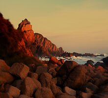 Casting Red Shadows - Cape Woolamai, Victoria, Australia by Yvonne Mitchell