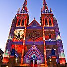St Marys Cathedral (Governor Macquarie) - Vivid Festival - Sydney - Australia by Bryan Freeman
