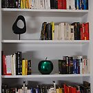 Bookcase - Colour Sorted Books by Monique Wajon