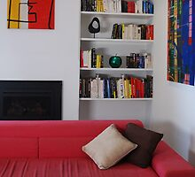 Living Room - Coloured Books. by Monique Wajon