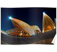 Opera House lit for Vivid Sydney 2010 Poster