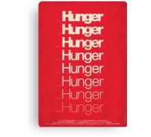 'Hunger' film poster Canvas Print