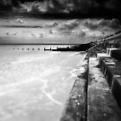The Tide Tarrieth No Man BW by Andy Freer