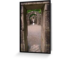 Meditating inside Reefert Church - Glendalough,Ireland Greeting Card