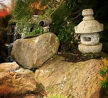 Japanese water feature  by Phil Bonnitcha