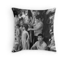Mannequins Throw Pillow