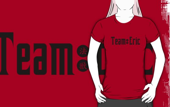 Team Eric Black Text by Tracey Quick