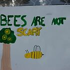 bees are not scary! by Amanda Huggins