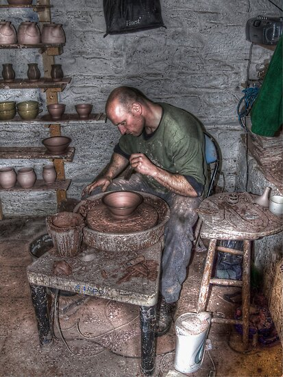 Potter At Work by Jonny Andrews