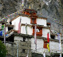 Manang Temple by Maggie Woods