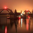 Siuslaw River Bridge At Night by James Eddy