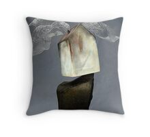 House Built Upon the Rock Throw Pillow